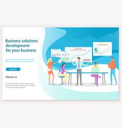 business solution development website landing vector image