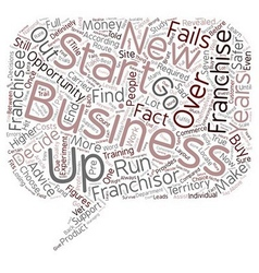 Buy A Franchise Or Start A Business text vector