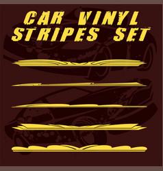 car stripe design set to print and cut on vinyl vector image