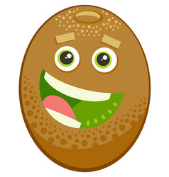 Cartoon kiwi fruit character vector