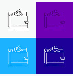 cash finance money personal purse icon over vector image