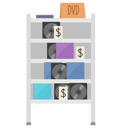 Cd equipment dvd disk sound garage sale vector