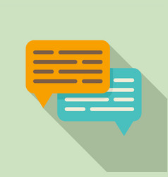 chat request icon flat style vector image