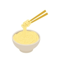 Chinese noodles icon isometric 3d style vector