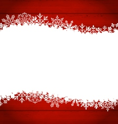 Christmas frame made of snowflakes with copy space vector image