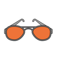 color image cartoon fashion glasses vector image