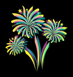 Colorful firework vector image