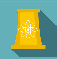 Cooling tower icon flat style vector