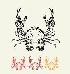 Crab floral vector image