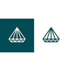 Diamond icon set of two minimal flat style vector