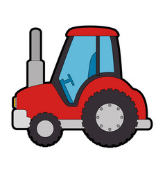 farm tractor isolated icon vector image