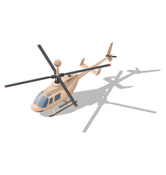 fire support or reconnaissance helicopter vector image