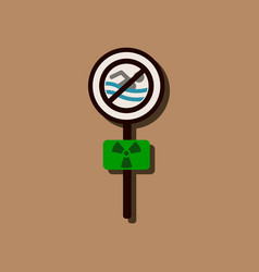 Flat icon design collection no swimming sign in vector