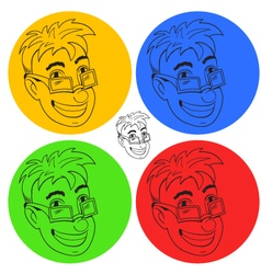 Funny boy sticker vector