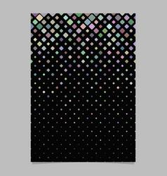 geometrical diagonal square pattern brochure vector image