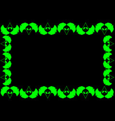 Ginkgo leaf - frame vector