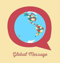 global message earth globe vector image