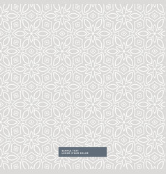 gray flower pattern background vector image
