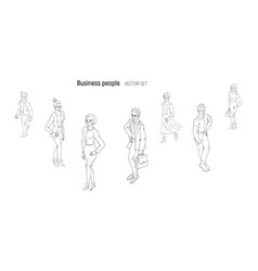 Group of people standing on white background vector