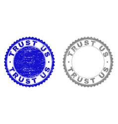 Grunge trust us textured stamps vector