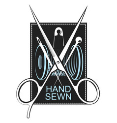 hand sewing symbol vector image