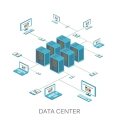 Isometric data center icon vector