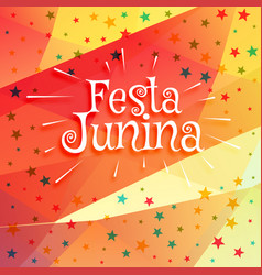 june festival of brazilian festa junina background vector image