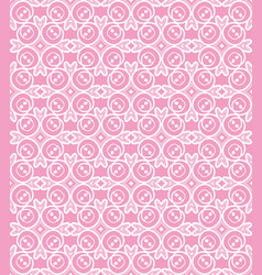 Korean traditional pink flower pattern background vector