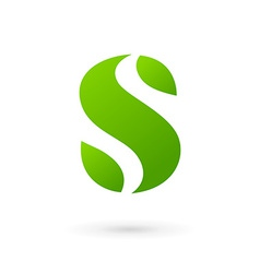 Letter S eco leaves logo icon design template vector
