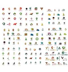 Mega set of geomeric company logos Corporate vector