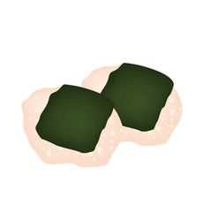 Nori Senbei or Japanese Seaweed Cracker vector