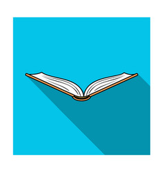 opened book icon in flat style isolated on white vector image
