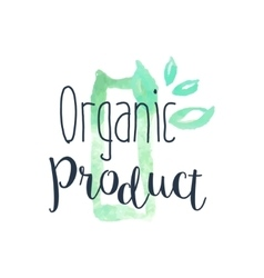 Organic Fresh Products Promo Sign vector image