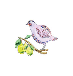 Partridge in pear tree for 12 days christmas vector