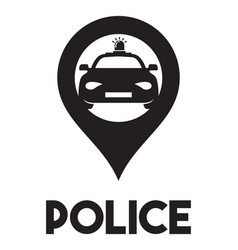 police sign vector image