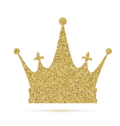 Royal crown icon with glitter effect isolated on vector