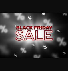 sale concept banner black friday vector image