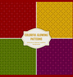 seamless glowing patterns holiday backgrounds vector image