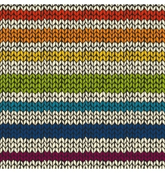 Seamless pattern with knitted stripes vector image