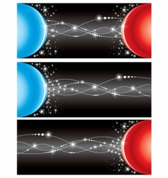 set electricity background vector image