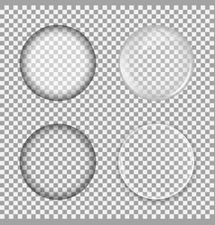 set glass lens on transparent background vector image