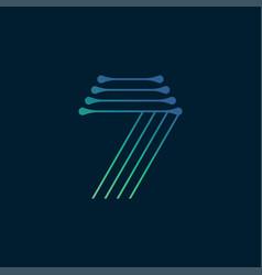 seven icon vector image