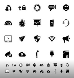 Smart phone screen icons on white background vector image
