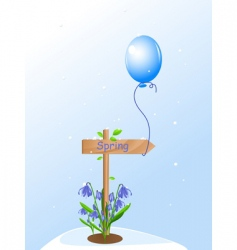 spring balloon vector image