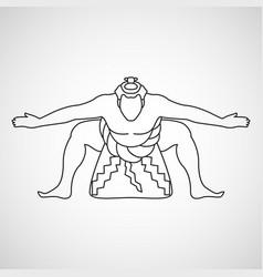 sumo logo icon vector image