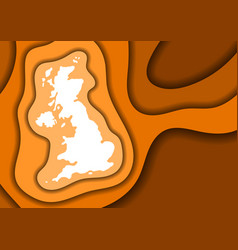 United kingdom map abstract schematic from orange vector