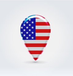 USA icon point for map vector
