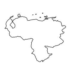 Venezuela map of black contour curves on white vector