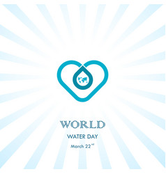 Water drop with heart icon logo design vector