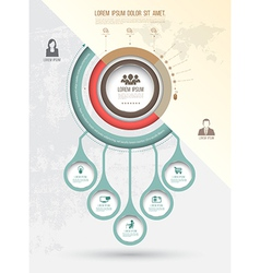 Abstract business infographics options template vector image